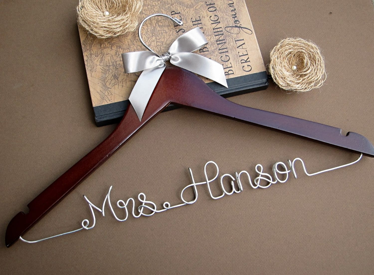 sale personalized bridal hanger wedding hanger custom