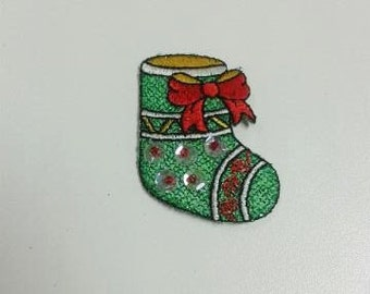 Christmas Stocking Iron on Patch