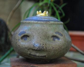 ceramic jar - forest prince