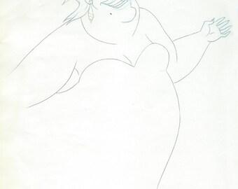 THE LITTLE MERMAID original Ursula production drawing