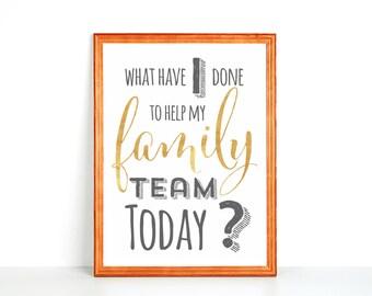 Refrigerator Printable: Family Team Goals