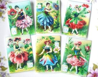 Edible Cake Decorations Fairies : Edible Butterfly Fairies x18 Wafer Paper Art Deco Fairy