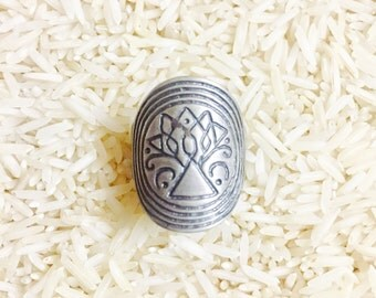Tribal ethnic bohemian sterling silver(92.5) ring. Size- 6, 7., 8, 9