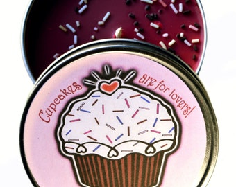 Red Velvet Cupcake Candle Tin