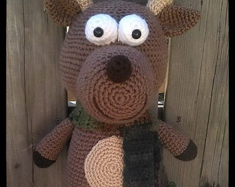 Stuffed Crochet Deer toy, Stuffed Rudolph, Hunters stuffed toy, Deer plush with antlers, Hunter's gift