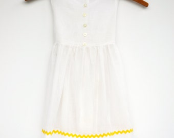 2 piece white dress 3t
