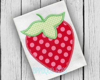 Strawberry Digital Applique Design - Strawberry - Summer - Monogram - Strawberry Applique Design - Strawberry Embroidery Design