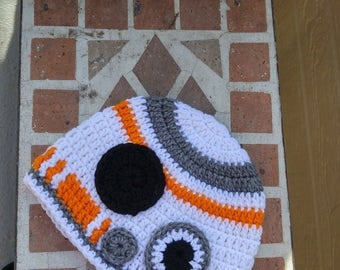 Handmade/BB8 Crochet Beanie/Star Wars/Crochet Beanie/Crochet Hat