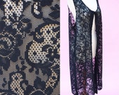 Reserved for Aquilina D - On The Rocks, Vintage 70s, Black Lace, Boho Chic Vest // 1970s, Folk, Hippie Chic, Women's One Size Fits All