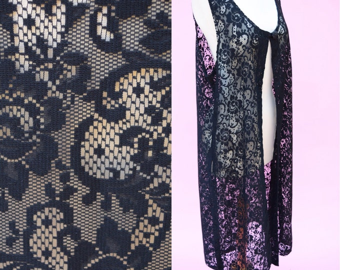 Featured listing image: Vintage 70s, Black Lace, Boho Chic Vest // 1970s, Folk, Hippie Chic, Women's One Size Fits All