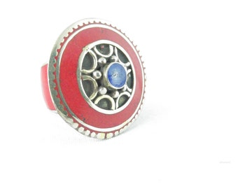 Tibetan ring ethnic boho style wheel Nepal