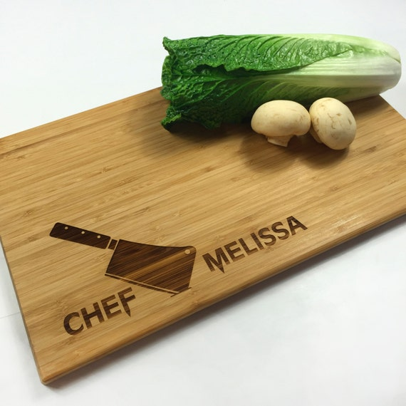 Personalized Wedding Gifts Kitchen : Cutting Board Personalized Wedding Gift Chefs Knife Chef Name Kitchen ...
