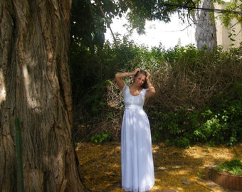 White long dress| Evening dress| Chiffon white dress| Lace white dress| Cocktail dress| Prom gown| Wedding dress