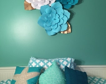 Large Wall Paper Flowers- Nursery Decor-Customize your Order!!!!!