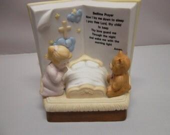 Vintage Nursery Bedtime Prayer Night Light Lamp