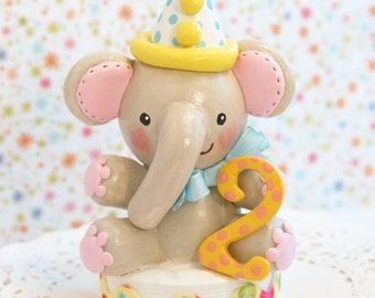 Baby Elephant Cake Toppers, One of a Kind, Unique,  Cake Smash, 1st First Birthday, Baby Shower