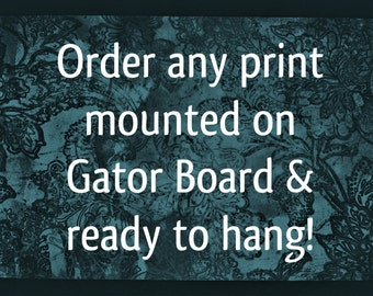Order Any Photography Print Mounted on Gator Board, Ready to Hang, Wall Art, Home Decor, Personal Style, Decorate, Many Sizes