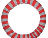 Steering Wheel Cover Red Gray Stripe-Team Car Decor-Car Accessory-Sports Team Wheel Cover