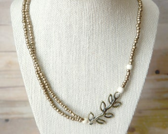 Branch + Beaded necklace