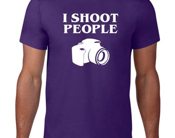 CLEARANCE FINAL SALE, Funny TShirt, I Shoot People, Photography TShirt, Camera Tshirt, Funny T Shirt, Photographer Gift,
