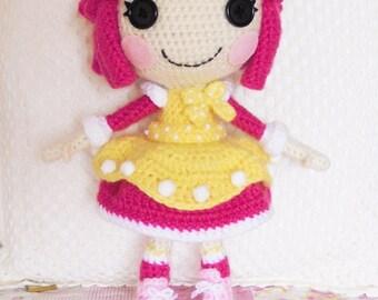 Crochet PATTERN Lalaloopsy Crumbs amigurumi doll