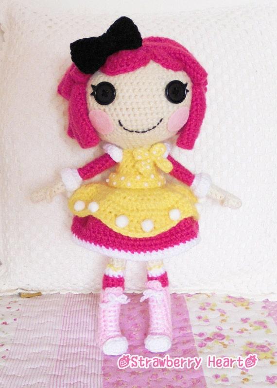 Sock Monkey Amigurumi Pattern : Crochet PATTERN Lalaloopsy Crumbs amigurumi doll