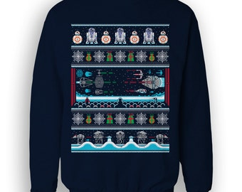 Sci Fi SWEATER / All I want for Christmas / Festive SciFi Ugly Sweater