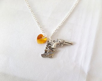 SALE Guns and Ships. Hamilton Musical Necklace