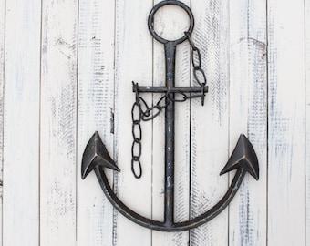 Anchor Decor, Office Decor, Beach Decor, Anchor Wall Art, Anchor, Metal Anchor, Office Decor for Men, Office Wall Art, Home Wall Decor