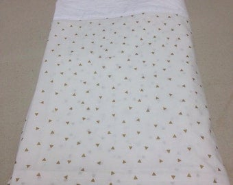 Custom Tailored Bedskirt with Box Pleat Corners - unlined - choose your own fabric and length