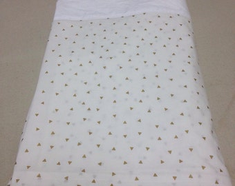 Custom Bedskirt with Box Pleat Corners - unlined - choose your own fabric and length
