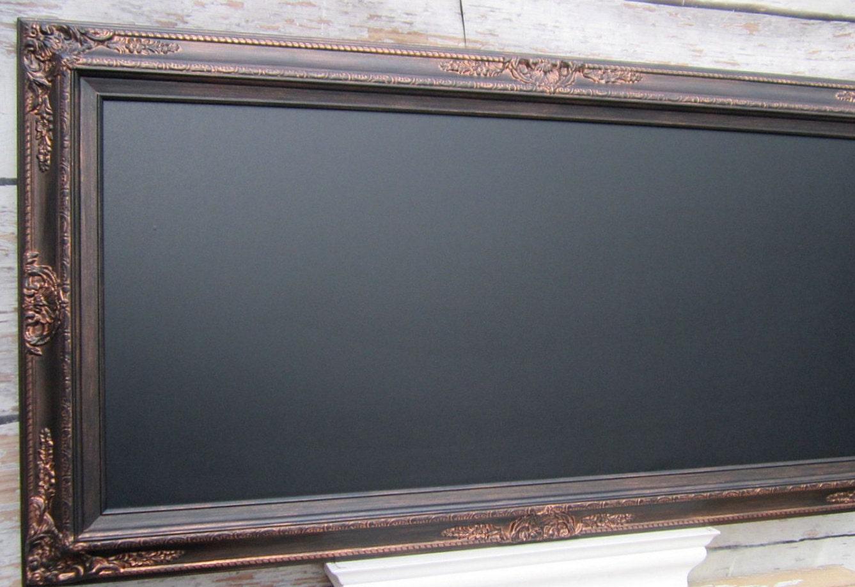 Black Framed Blackboard Oil Rubbed Bronze Black Magnetic