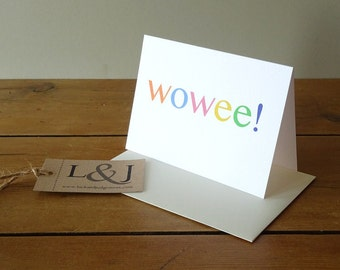 Surprise Card - Any Occasion Card - Awesome - Best Friend Card - Greeting Card - Wow - Blank Greeting Card - All Occasion Card - Blank Card