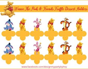 WINNIE THE POOH, Winnie The Pooh Chocolate Holders, Winnie The Pooh Party Printable, Winnie The Pooh Party Favors,Winnie The Pooh,Forminhas.