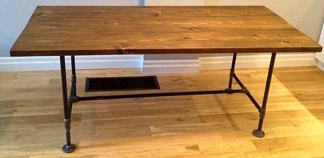 Reclaimed Wood Metal Pipe Dining Table By TheWoodMarket On Etsy