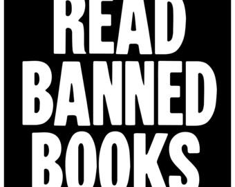 New Black Sticker Decal Read Banned Books Anti Censorship Free Speech Freedom Radical