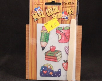 Vintage Art Lover Full Color Rub On Transfers Package. Pencil
