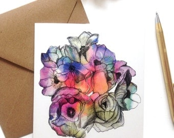 MayFlowers Square Greeting Card