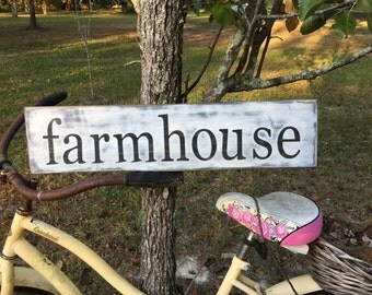 farmhouse rustic wood sign