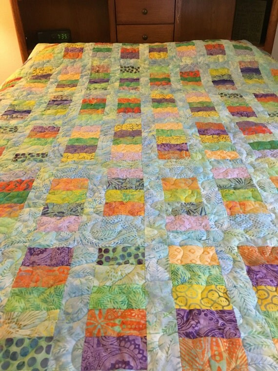 value of handmade quilts price reduced this is a handmade size batik quilt 2421