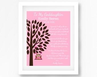 Gift for Goddaughter, Baptism Gift for Goddaughter, Personalised Christening Gift from Godmother, Christening Poem, Naming Ceremony Gift