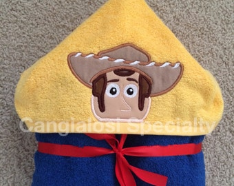 Toy Story Inspired Hooded Towel (ALL Characters Available)