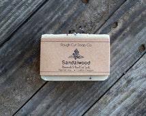 Sandalwood Soap - All Natural Soap, Cold Process Soap, Handmade Soap, Beer Soap, Men's Soap, Vegan Soap