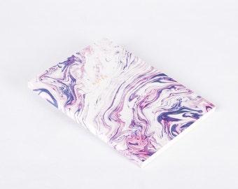 Water Marbled Modern Notebook Journal Purple