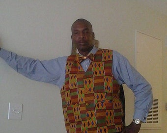 African Clothes,Kente Vest Style 3