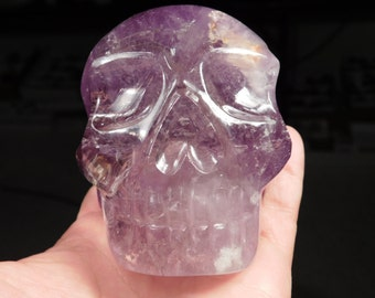 A BIG Beautiful AAA Brazilian Amethyst Crystal SKULL!! 831gr