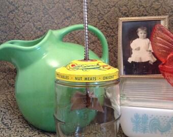 Vintage Glass Nut and Vegetable Chopper
