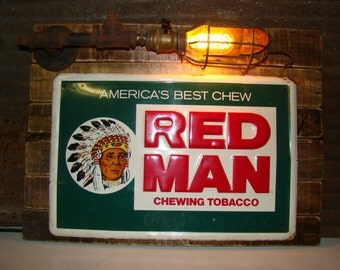 Red Man Tobacco Lighted Wall Art