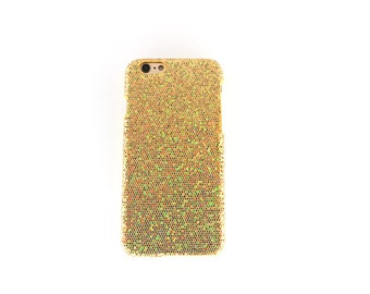 Gold Glitter Snap On Case For iPhone 6/6s