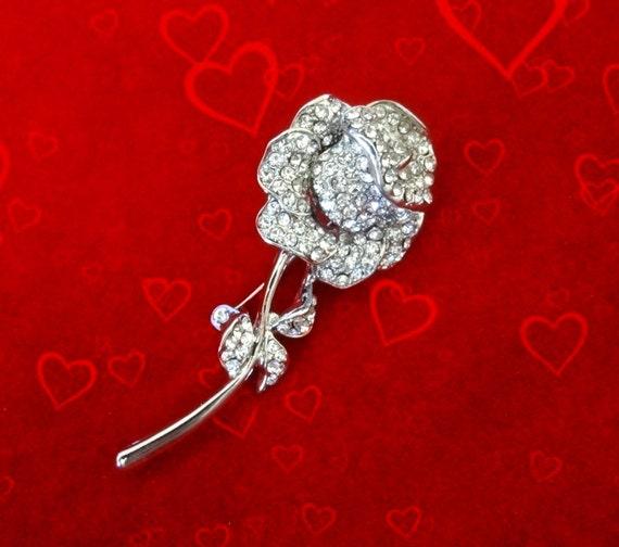 50 sale valentines day jewelryrose pin broochsilver - Valentine Day Jewelry Sales